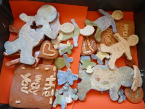 These attractive hand made ceramic sections developed skills for pupils