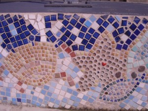 One of four panels of the Capel Street mosaic Newhaven