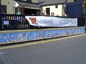 This mosaic is positioned along the harbour wall out side the Ark public House