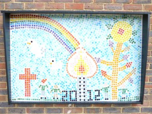 The finished commerative mosaic
