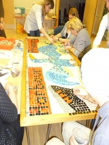 Harbour Primary school mosaic takes shape
