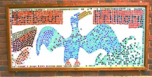 Th cormarent mosaic made by staff at harbour primary school