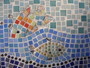Mosaics last for years when made well on strong treated boards