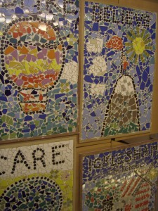 Icklsham school hall mosaics