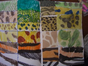 These year 1 sketch books show pupils using animal print paper to stimlate drawings